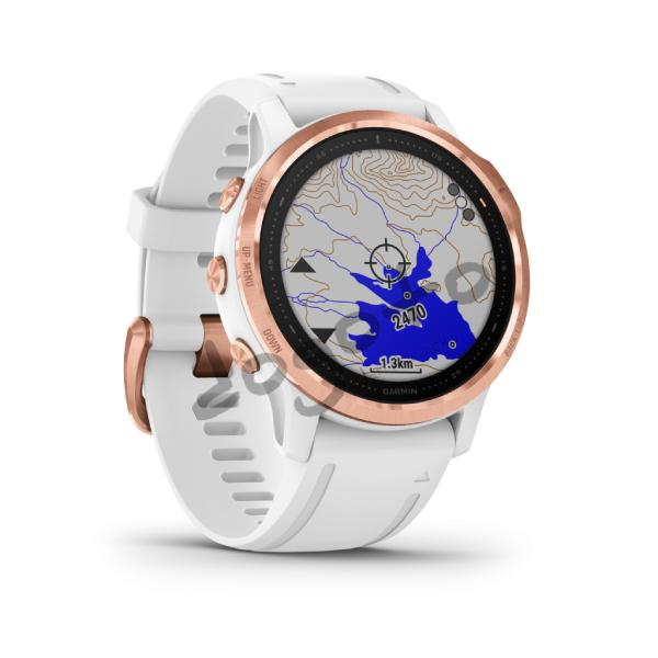 fenix6S Glass Silver/White