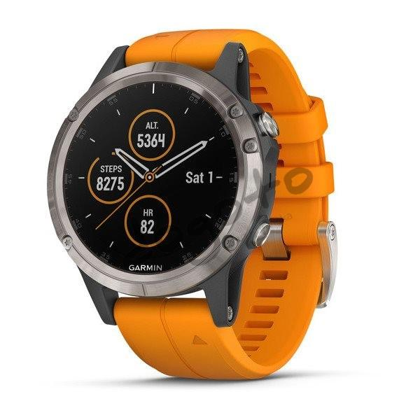 Fénix 5 Plus Sapphire Titanium, Orange Band